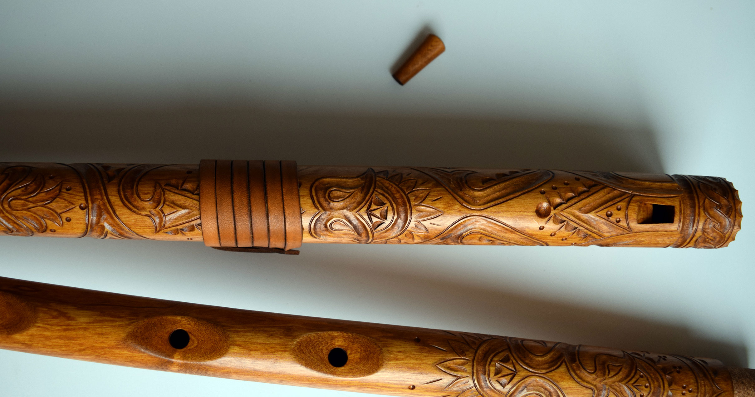 Hand-carved Fujara in C by Roman Kuchta